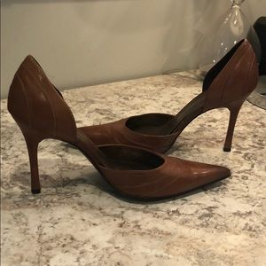 ALDO brown leather pumps   Size 7   Like new
